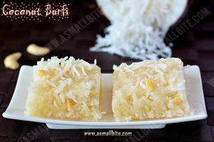 Coconut Burfi Recipe 1