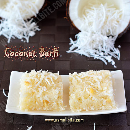 Coconut Burfi Recipe | Thengai Burfi Recipe