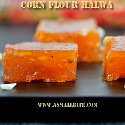 Corn Flour Halwa Diwali Recipes