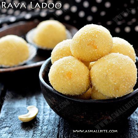 Rava Ladoo Recipe | Rava Urundai Recipe
