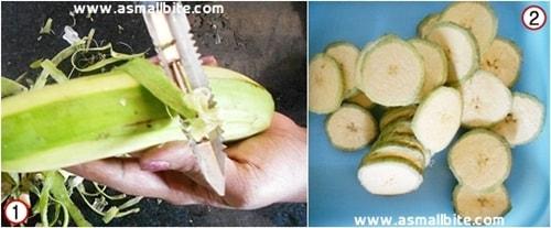 Raw Banana Fry Recipe Steps1