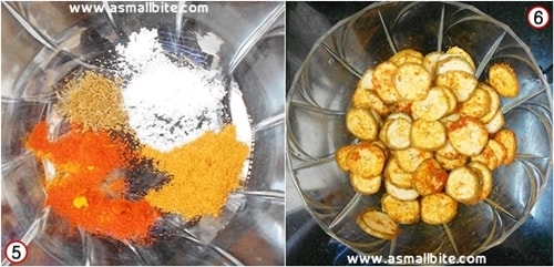 Raw Banana Fry Recipe Steps3