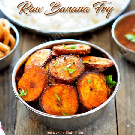 Raw Banana Fry Recipe | Vazhakkai Fry Recipe