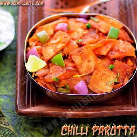 Restaurant Style Chilli Parotta