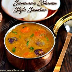 Saravana Bhavan Sambar Diwali Recipes