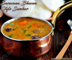 Saravana Bhavan Style Sambar Recipe 1
