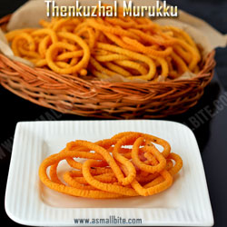 Thenkuzhal Murukku Diwali Recipes