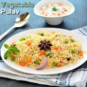 Vegetable Pulav Recipe 1