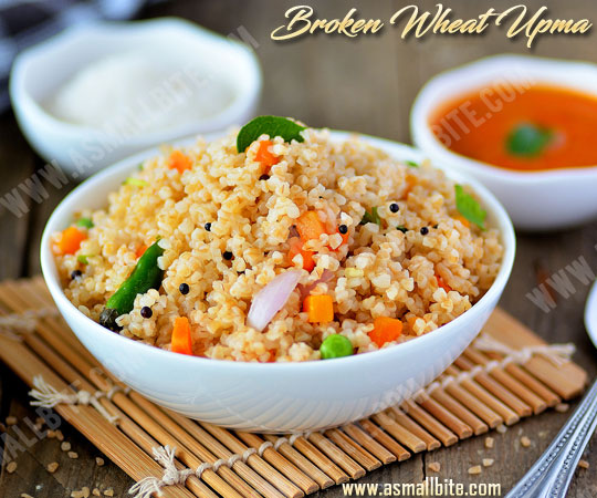 Broken Wheat Upma Recipe 1