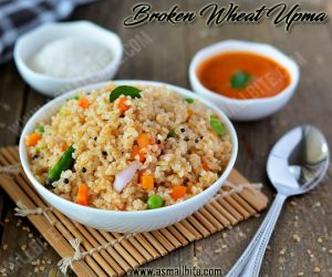 Broken Wheat Upma Recipe 2