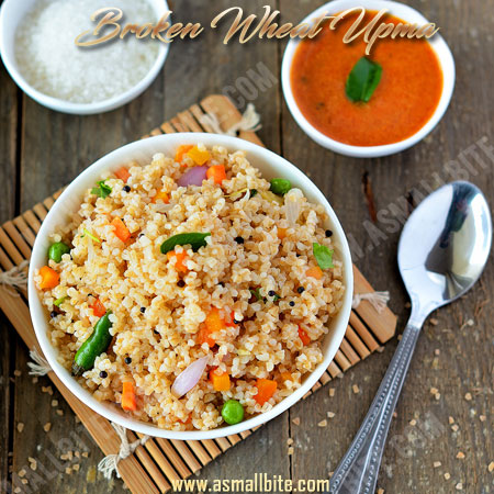 Broken Wheat Upma Recipe | Godhumai Upma Recipe