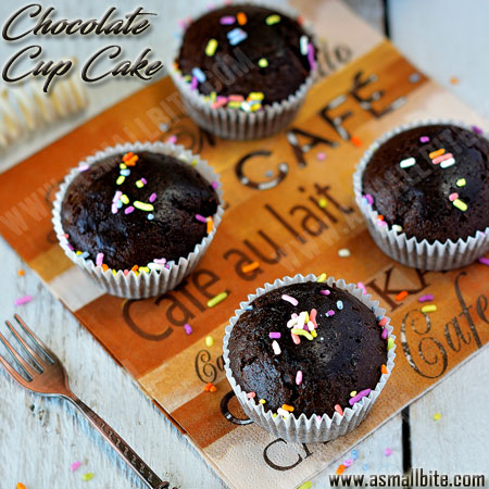 Eggless Chocolate Cupcakes Recipe 1