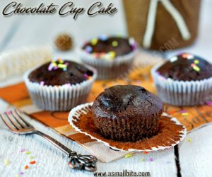 Eggless Chocolate Cupcakes Recipe 2