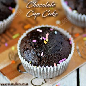 Eggless Chocolate Cupcakes Recipe