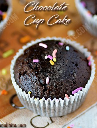 Eggless Chocolate Cupcakes Recipe