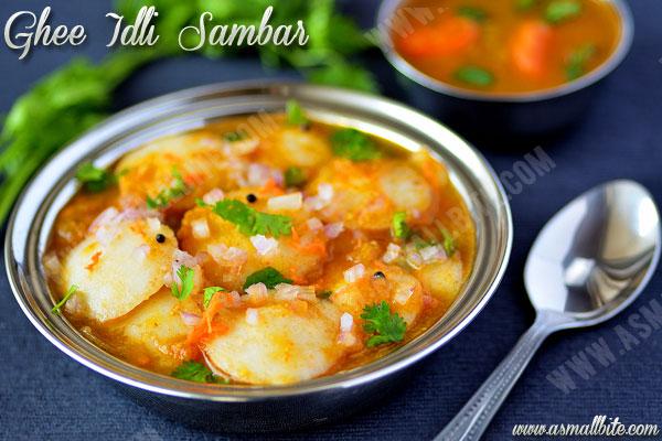 Ghee Idli Sambar Recipe 1