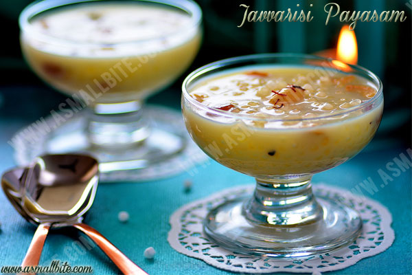 Javvarisi Payasam Recipe 1