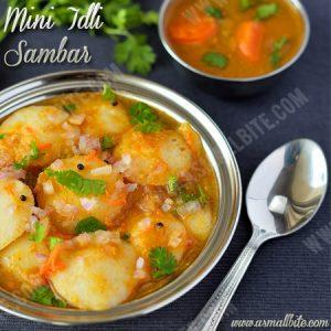 Mini Idli Sambar Recipe 1
