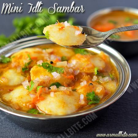 Mini Idli Sambar | Ghee Idli Sambar Recipe