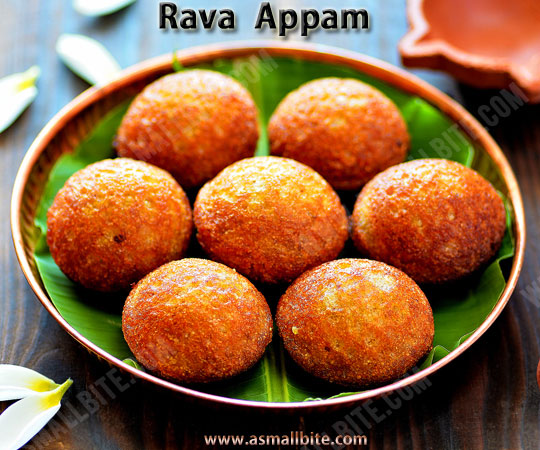 Rava Appam Recipe 1