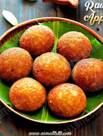 Rava Appam Recipe | Sweet Sooji Paniyaram Recipe