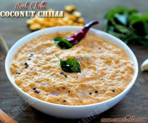 Red Chilli Coconut Chutney 2