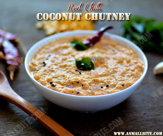 Red Coconut Chutney 1