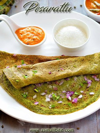 Pesarattu Recipe | Moong Dal Dosa Recipe