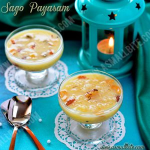 Sago Payasam Recipe