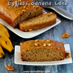 Eggless Banana Cake Christmas Recipes 2017
