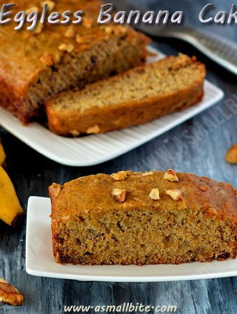 Eggless Banana Cake Recipe 1