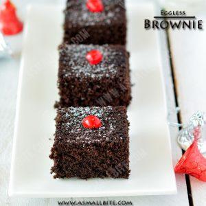 Eggless Chocolate Brownies 1