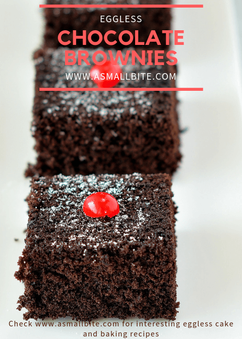Eggless Chocolate Brownies Recipe
