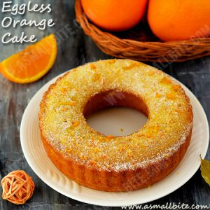 Eggless Orange Cake Recipe 1