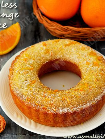 Eggless Orange Cake | Orange Sponge Cake Recipe