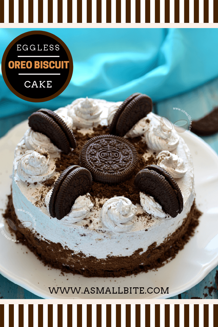Eggless Oreo Biscuit Cake Recipe