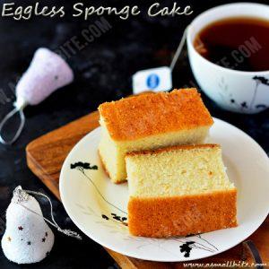 Eggless Sponge Cake Recipe 1