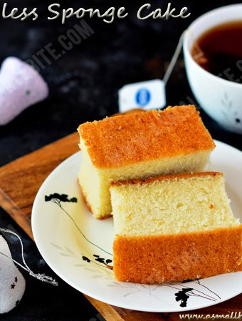 Eggless Sponge Cake Recipe 1