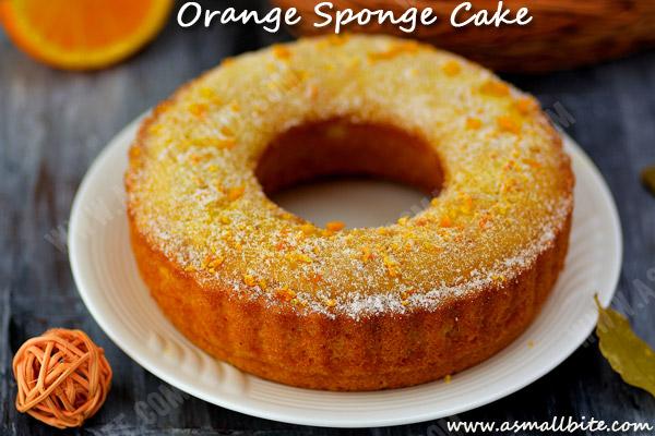 Orange Sponge Cake Recipe 1