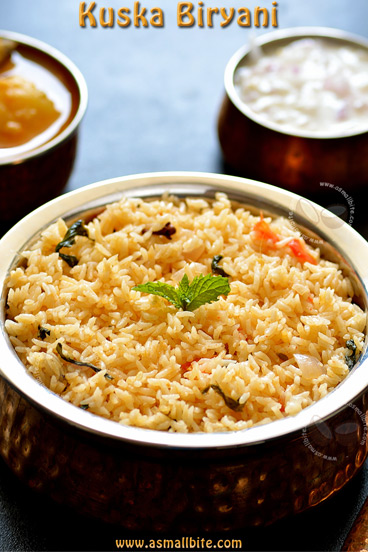 Plain Biryani Recipe