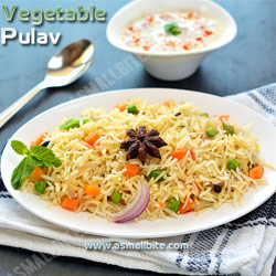 Veg Pulao Christmas Recipes