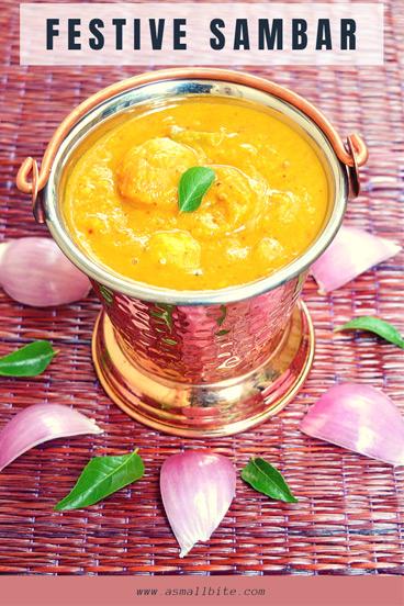 Festive Sambar Recipe