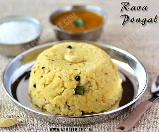 Rava Pongal Recipe 1