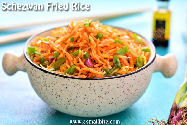 Veg Schezwan Fried Rice Recipe 2