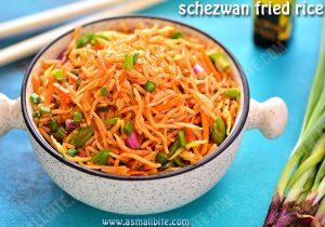 Veg Schezwan Fried Rice Recipe