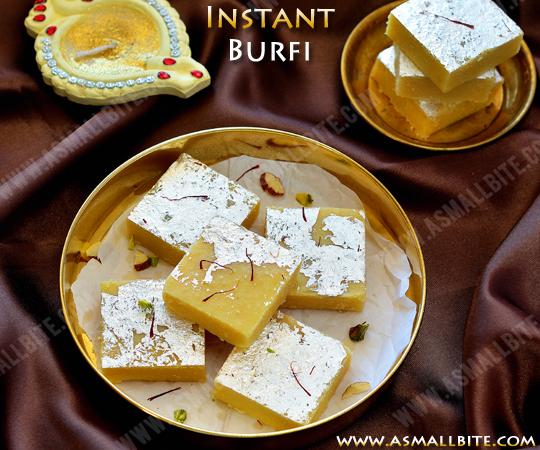 Instant Burfi Recipe 1