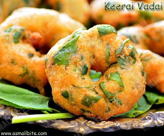 Keerai Vadai Recipe 1