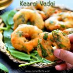 Keerai Vadai Recipe | Spinach Medhu Vada Recipe