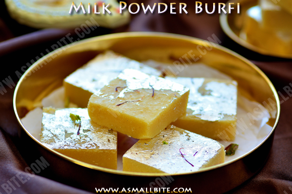 Milk Powder Burfi Recipe 1