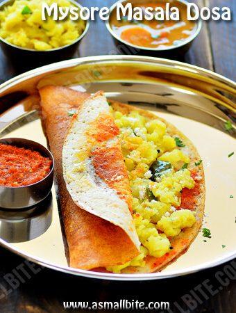 Mysore Masala Dosa Recipe | Mysore Dosa Recipe